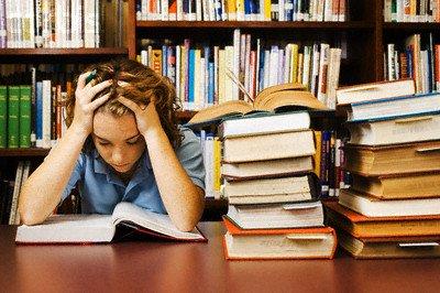 Teenage Student Studying Hard